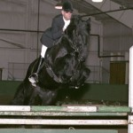 Who says Friesians can't JUMP!!??