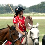 URSULA PARI with SA POLO CLUB TROPHY